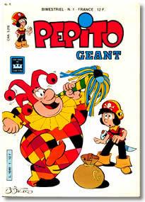 La prima copertina di Pépito Géant