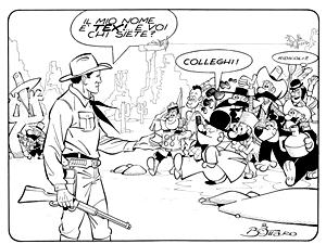 l'omaggio di Bottaro a Tex