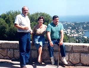 Luciano, Mariarosa e Giorgio