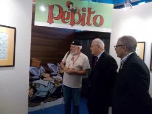 Il sindaco Claude Renoult con Pépito e Pierre-Marie jamet