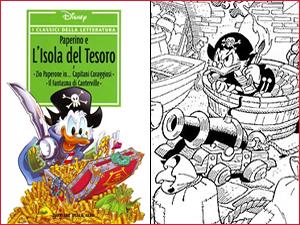 La copertina e una vignetta della storia